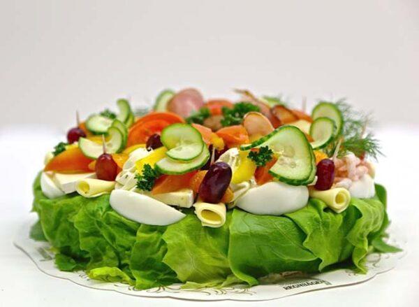 Vegetarisk smörgåstårta 1